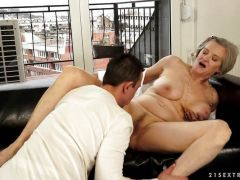 Older woman fucked by a hard cock