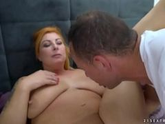 Chubby mature woman enjoys hardcore fuck