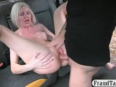Hot blonde anal screwed by nasty driver