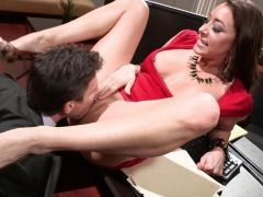 Kaylynn gives her boss a taster