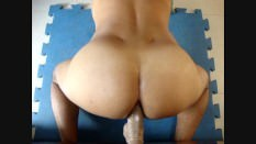 Black Dildo Doggystyle Fucking Section - Juicy Round Ass
