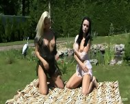 Two Naked Girls In The Park