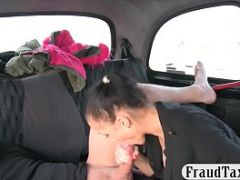 Hot amateur babe railed by horny driver
