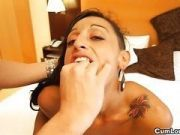 Hot Latina likes taking Cum over her lush Face