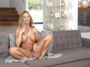 Nicole Aniston finger fucks her juicy moist slot