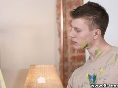 X-Sensual - Painting With Cock And Cum