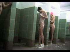 Naked Housewives Spied In Public Shower