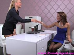 FemaleAgent. Blonde sexy boss teaches agent the art of seduction