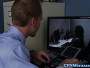 Office cfnm femdoms cumsprayed on bigtits