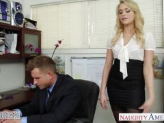 Mia Malkova fucks in the office