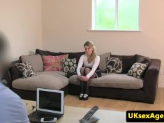 Facefucked auditioning eurobabe creampied