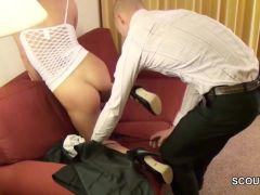 Older Man Caught German Teen and want to Fuck