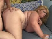 Plump blonde Sasha Juggs hardcore fuck