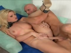 Pretty Blonde Bobbi Eden Sucking Bigcock