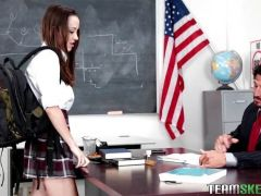 Nikki Next drilled on the teachers desk