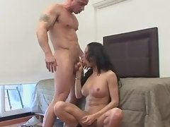 Naked Tranny Gives Head and Hammered From Behind