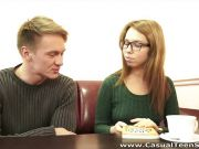 Hot teen with glasses fucked hard