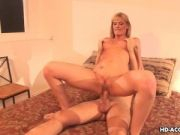 Blonde cougar with an Iris tattoo gets fucked real hard