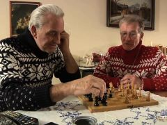 Two Old Men DP Sexy Blonde Babe