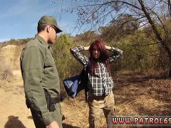 French Cop Oficer Of Patrol Agrees To Help Redhaired Babe To