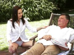 Ashley Woods creampied by an old man