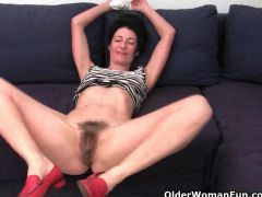 Grandma refuses to shave her hairy pussy