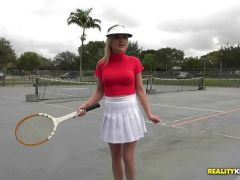 Kinky tennis player Kristina Reese gets frisky on the court