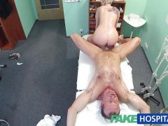 FakeHospital Blonde tattoo babe fucked hard doctor