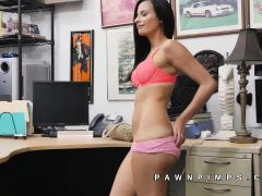 Alexis Deen strips to suck in pawn shop