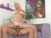 Pretty blonde with tattoos and big boobs Leah Lust