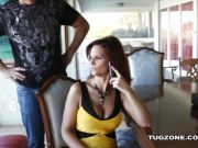 Syren Demer watched as she interracially fucks