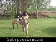Cutie teenie restrainted and subjected to harsh bdsm