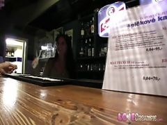 Love Creampie Horny Barmaid Gets Internal Cumshot On The Bar Table