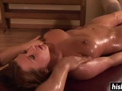 Katerine Moss gets fucked during a massage
