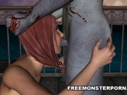 Busty 3D Toon Redhead Fucked on a Pier