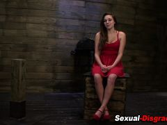 Bdsm chained slut toyed