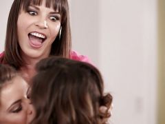 Psychotic MILF messes around with her pretend twins - Dana DeArmond Jade Nile and Adriana Chechik
