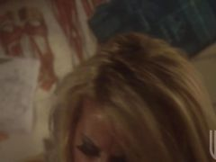 Sweetheart Jessica Drake gets awesomely plowed hard on her tight sweet snat...