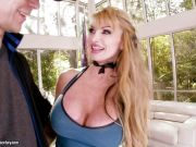 Sexy MILF Taylor Wane seduces this dick with her tits