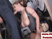 Eva Notty gobbles down this thick shaft
