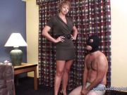 Brianna Beach keeps her slave in line