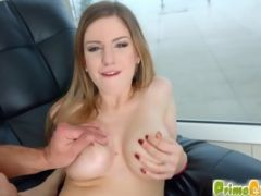 This Busty Athletic Jizz Fan Performs A Blowjob On A Big Cock