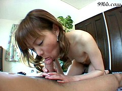 Naughty Asian girl gets her mouth drilled