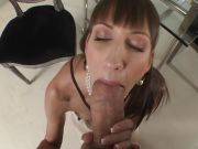 Beautiful skinny Taniella strips and gives Rocco a BJ