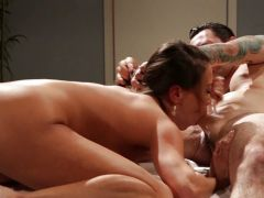 Dirty Asian Kalina Ryu roughly fucks her horny client