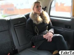 Big tits babe gets her tight ass ripped hard in the cab