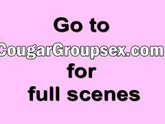Who wouldn\'t love some cougar groupsex as a birthday gift?