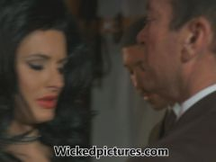Dominatrix Alektra Blue gets her man in a frenzy