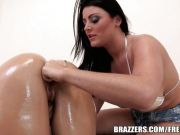 Brazzers - Oiled Sophie Dee gets fucked from behind