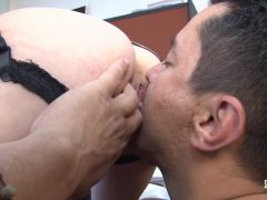 Santa Latina - Brunette Latina enjoys a hardcore fuck and 69